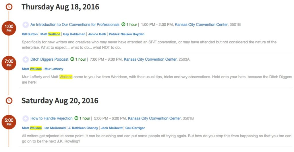 worldcon 2016 sched
